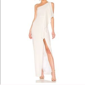 Likely Sienna draped one-shoulder gown Size 4 NWT